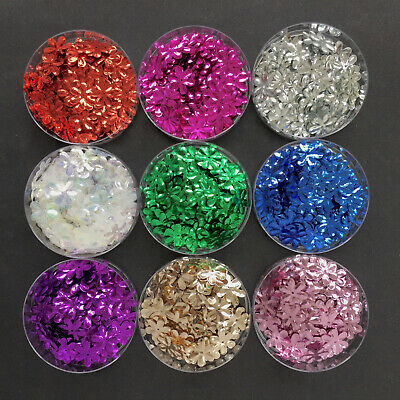 100 x 15mm Pretty Daisy/Flower Sequins. 8 colours available.