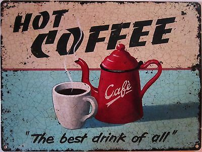 Mom/'s Diner Fresh Hot Coffee Vintage Reproduction Metal Sign 12x12 2120168