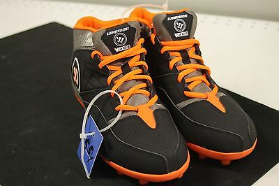 Warrior Vex 2.0 Jr Youth Size 5.5M US Lacrosse Cleats WJVEX2B0 New Black/Orange