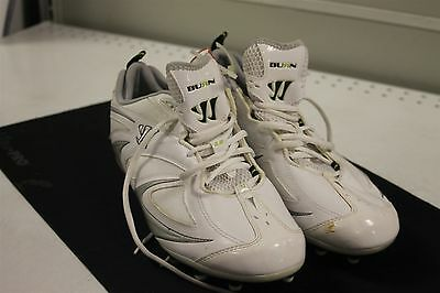 Warrior Burn 3.0 Men's Sz 13D US Lacrosse Cleats Silver/White New