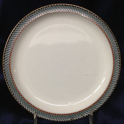 "Denby Langley Luxor Bread & Butter Plate 6 3/4"" Green & Blue Goemetric Edge"