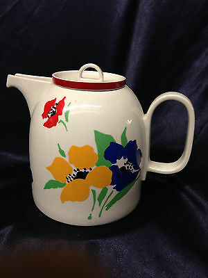Block Vista Alegre Portugal Hearthstone Anemone Coffee Pot & Lid 52 Oz Flowers