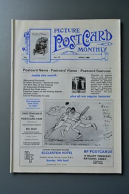 R&L Mag-Picture Postcard Monthly 1985 Apr Imre Kiralfy/Bamforth Comic/Silhouette