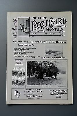 R&L Mag-Picture Postcard Monthly 1985 Feb Suffrage/Bamforth Bath/Portsmouth