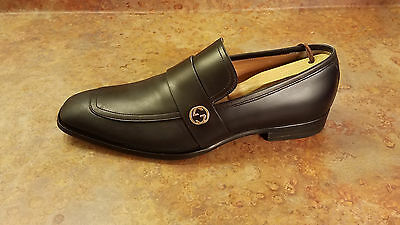 77286a42415 Gucci  Broadwick  Loafer Shoes Black Leather Mens Size 8 US 7 UK MSRP  730