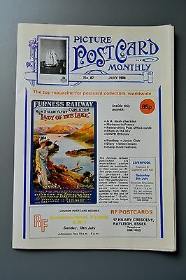 R&L Mag-Picture Postcard Monthly 1986 July William Matthison/A A Nash/Balloons