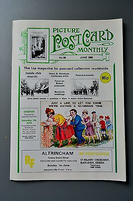 R&L Mag-Picture Postcard Monthly 1986 June Henry Wimbush/Bristol/Bamforth Comic