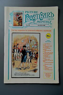 R&L Mag: Picture Postcard Monthly 1987 Mar Handcross/Lord Nelson/War Political