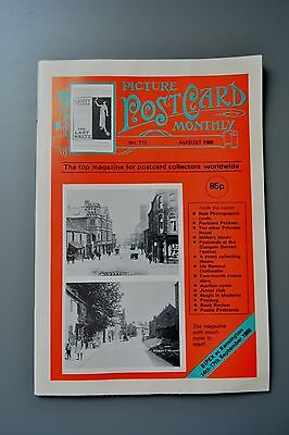 R&L Mag: Picture Postcard Monthly 1988 Aug Packets/Royalty/Military Bands