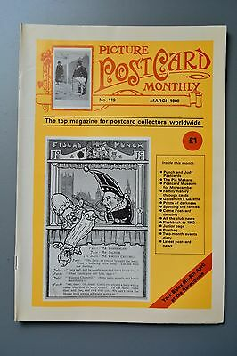 R&L Mag: Picture Postcard Monthly 1989 Mar Bamforth Dancing/Mr Punch/Pie Makers