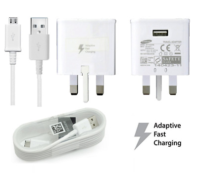 Adaptive Fast Charger Plug & Cable For Samsung Galaxy S6 S7 EDGE NOTE 3 4 5