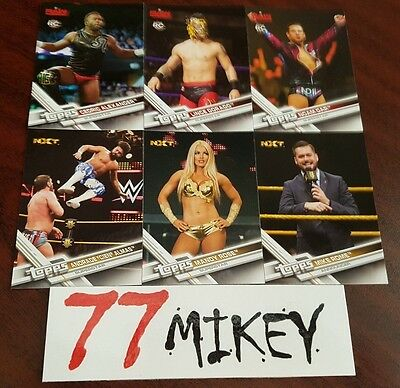 2017 Wwe Trading Cards Roster Update Cards