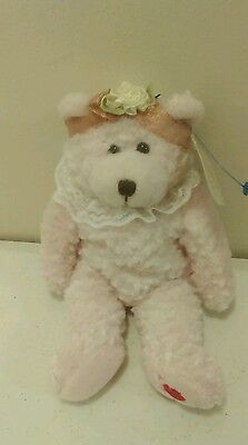 March of Dimes mothers day pink Teddy Bear 2003 Sugar and Spice