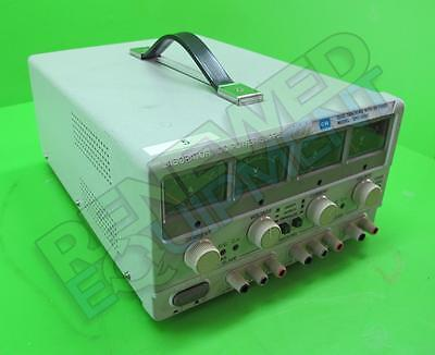 GW Instek  GPC-3020 Dual Tracking with 5V Fixed DC Power Supply Tested Working