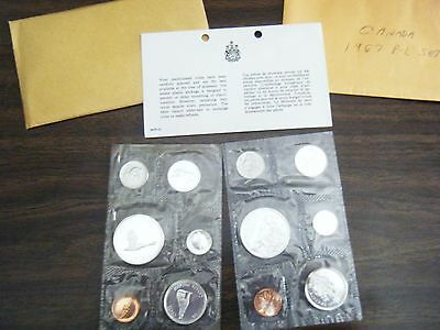 Two Canadian Mint/Proof sets 1965 & 1967 Unopened with some toning