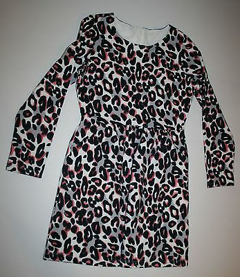 New Gymboree Kitty In Pink Black White Pink Leopard Print Dress Size 8 Year NWT