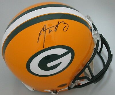 Packers AARON RODGERS Signed Riddell Authentic Helmet AUTO  SB XLV CHAMP NFL MVP