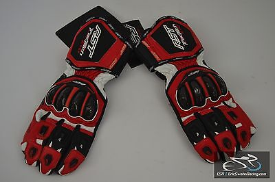 RST TracTech Evo 1579 Motorcycle Gloves Red/White/Black Large/10