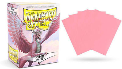 Deck Box / Deckbox - 100 Standard size Card Sleeves Dragon Shield Pink Matte