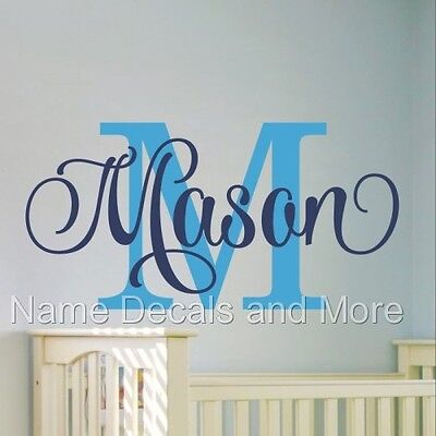 Sticker Girl Nursery Bedroom Decor Boys Personalized Name Vinyl Wall Decal