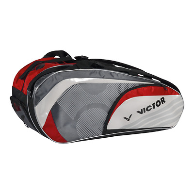 Victor Doublethermobag 9117 - Red - 6 Rackets - Badminton Bag