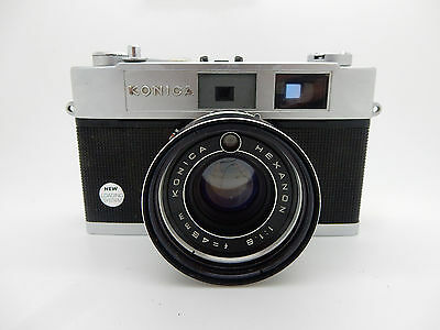 Vintage Konica Auto S2 Camera w/HEXANON 45mm f/1.8 Lens-Japan --NR--