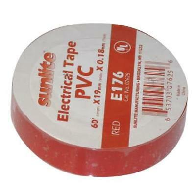 SUNLITE 10pcs Electrical Tape Red E176
