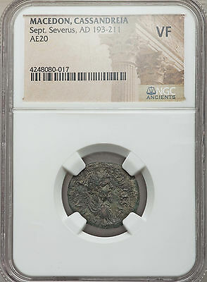 Macedon Cassandreia Sept Severus AD 193-211 AE20 NGC Ancients VF