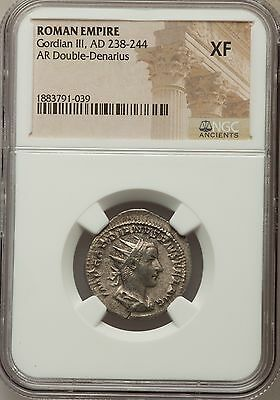Roman Empire Gordian III AD 238-244 AR Double-Denarius NGC Ancients XF