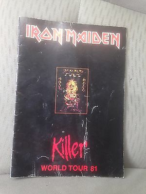 Original Iron Maiden 1981 Killer World Tour Concert Program Book