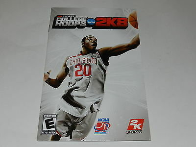 College Hoops 2K8 Sony Playstation 2 PS2 Game Manual Only