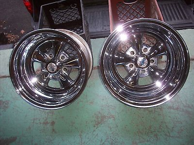 Vintage 1980's 15X10 Cragar S/S Unilug Mag Wheels Hot Rod Rat Rod Day2 USA Made