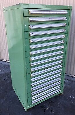 "Stanley Vidmar 17-Drawer Tool Storage Cabinet Shop Equipment Box 30""x28""x59"""