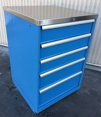 5 DRAWER CABINET INDUSTRIAL TOOL BOX STORAGE LISTA, VIDMAR Type 28x28x42