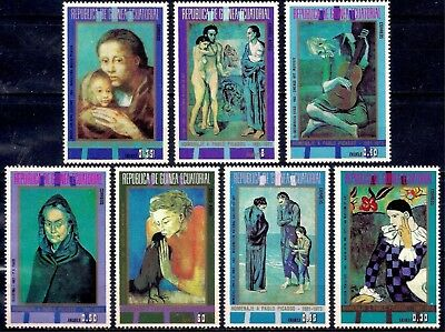 Equatorial Guinea 1973 Picasso Paintings Clown Mother Child Music Nude MNH