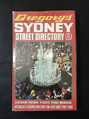 VINTAGE 1970's GREGORY'S STREET DIRECTORY Sydney & Suburbs Road Guide, 38th Ed