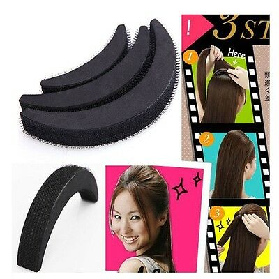 3Pcs Fashion Women Girl Hair Bump Bun Maker Style Clip Stick Accessories Tool