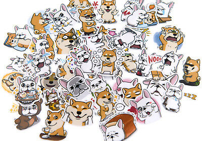 40 piece waterproof Cartoon Puppy Husky Shiba Inu Dog stickers for junk journal
