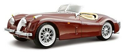 1951 Jaguar XK120 Roadster Bburago 1:24 Scale DIY Diecast Metal Model Car Kit