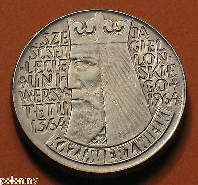 Old Coin Poland- Jagiellonian University King Kazimierz Wielki (Concave)