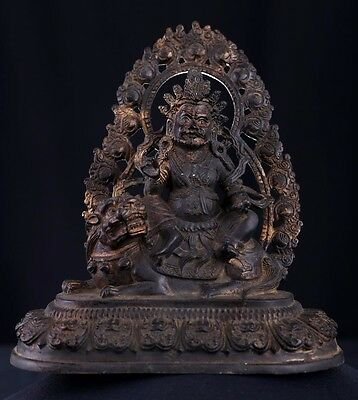 Very Large Superb Rare Old Chinese Bronze Buddha Seated Statue Sculpture AB042