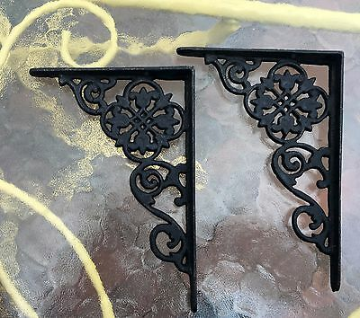 Antique Style Cast Iron Shelf Brackets....pennsylvania Dutch