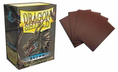 Deck Box / Deckbox - 100 Standard size Card Sleeves Dragon Shield Brown