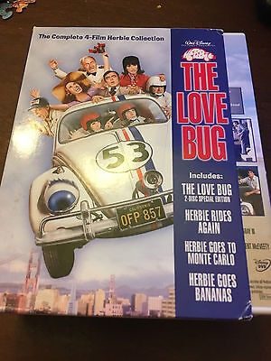 The Love Bug (DVD 2004) Complete 4-Film Herbie Collection Like new