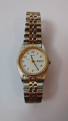 Seiko stainless steel and gold tone women's watch