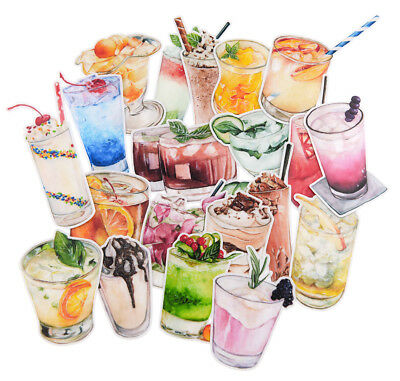 20 piece waterproof party themed sticker lot for laptop journal scrapbook bottle