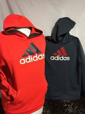 Youth/ Adidas Hooded Sweatshirt Lot Of 2 Size XL 18