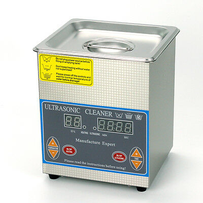 2L Liter 60W 40KHz ULTRASONIC CLEANER Tank Heater Cleaning With Timer&Basket