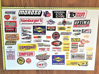 Lot of 59 Various Racing / Automotive - Decals & Stickers