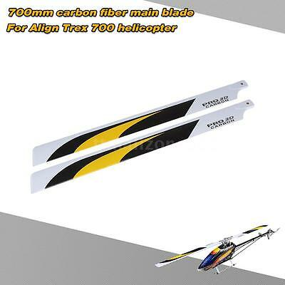 NEW Carbon Fiber 700mm Main Blades for Align Trex 700 RC Quadcopter Drone I8R0